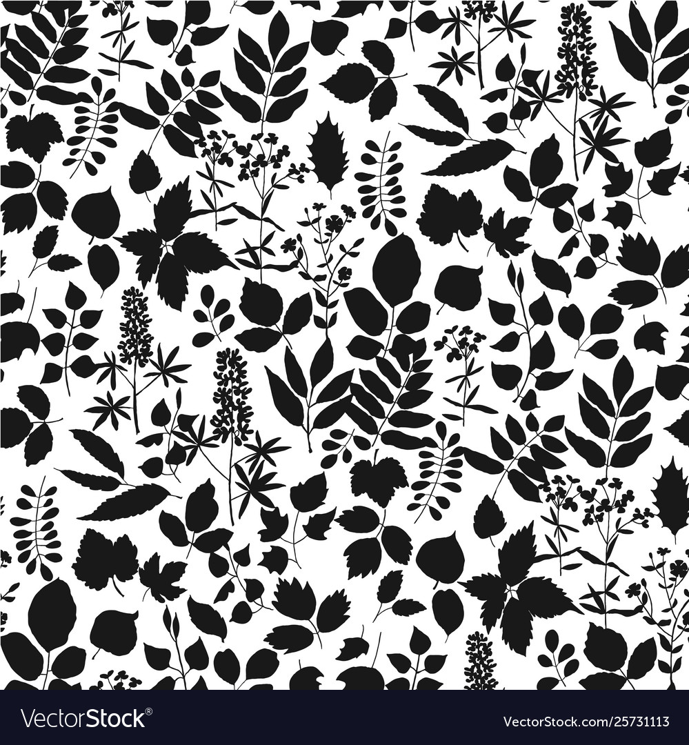 Europe forest leaves simple seamless pattern
