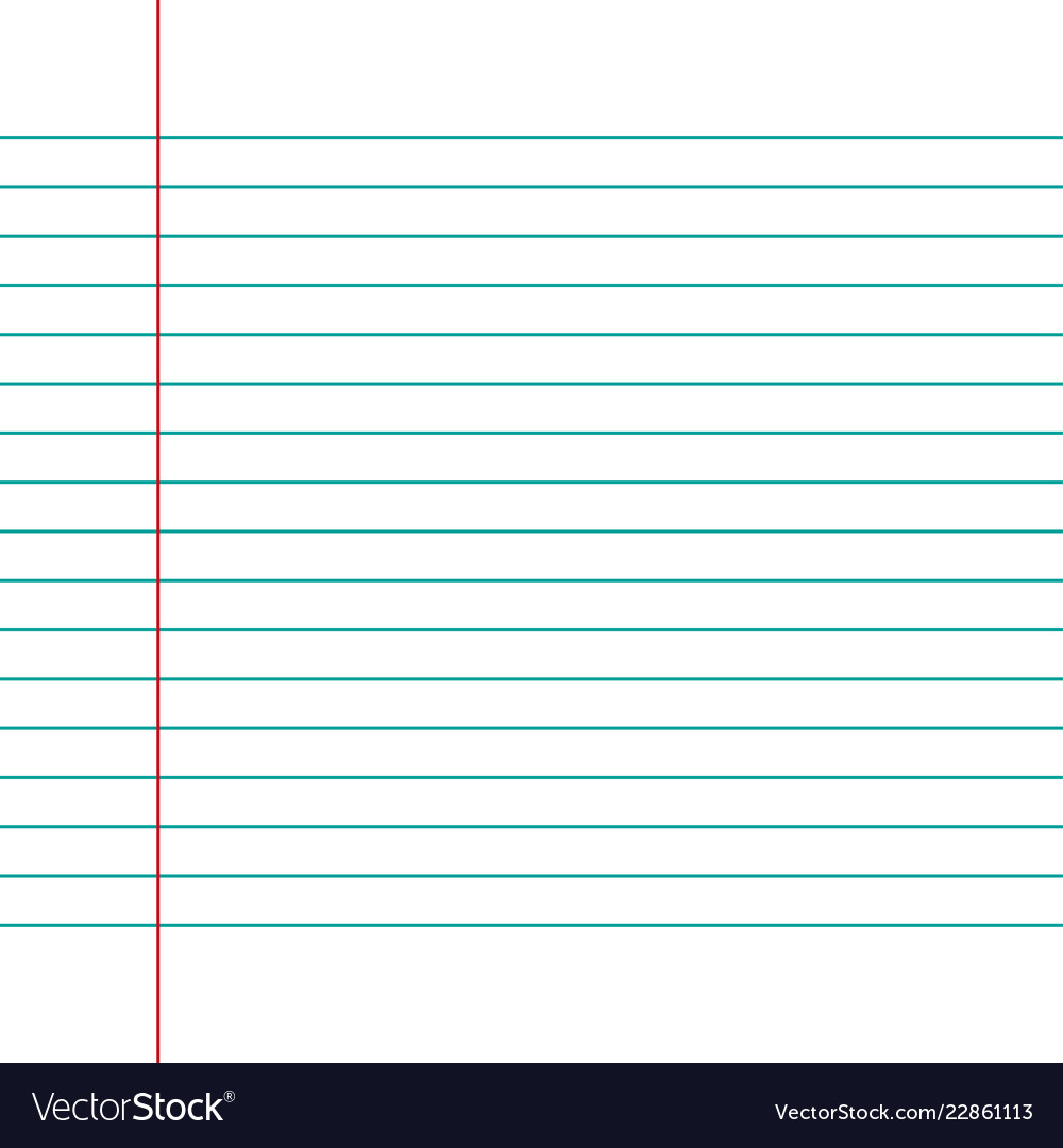 Notebook Paper Background Royalty Free Vector Image ✓ free for commercial use ✓ high quality images. vectorstock