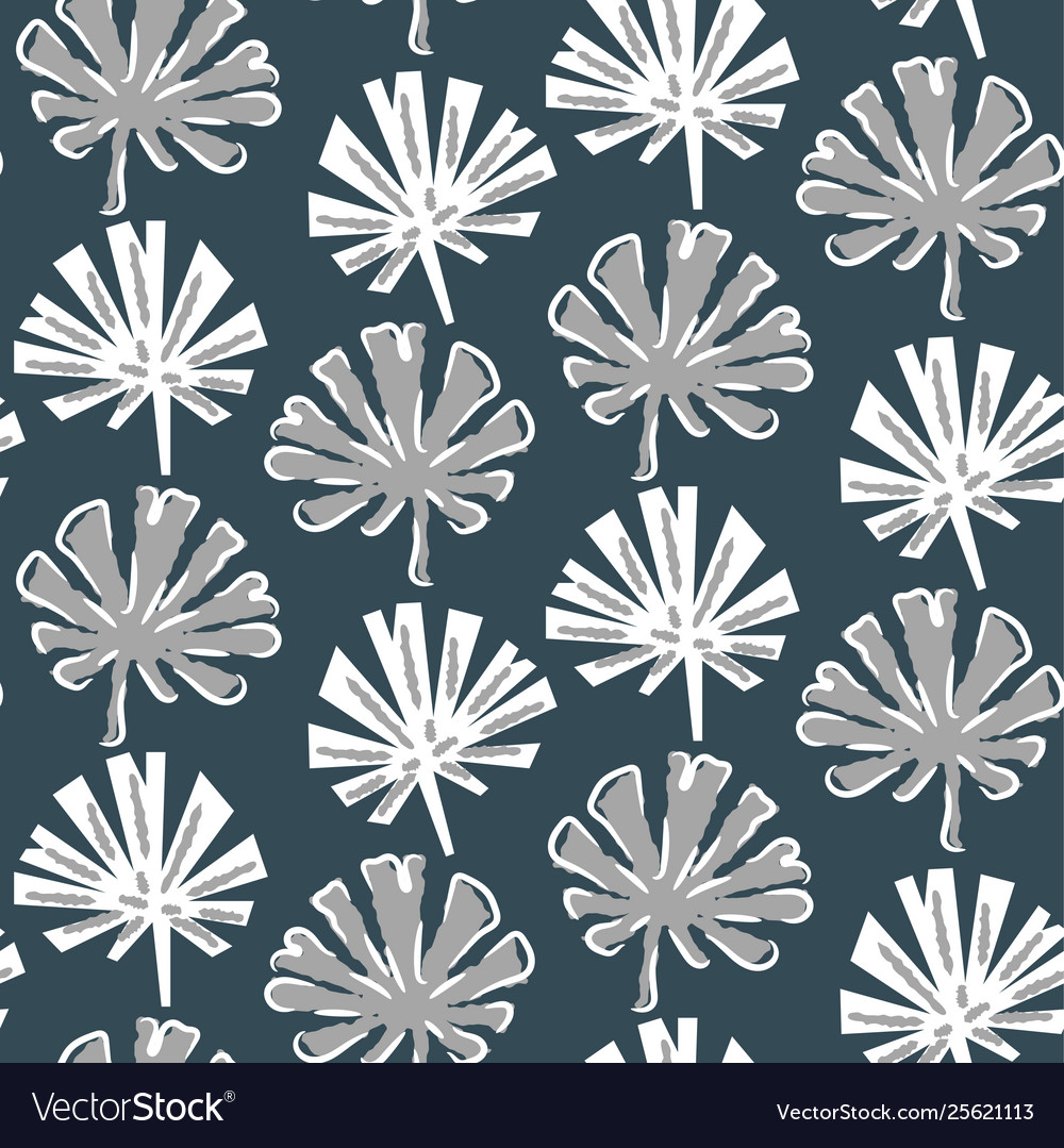 Tropical monstera leaves seamless pattern