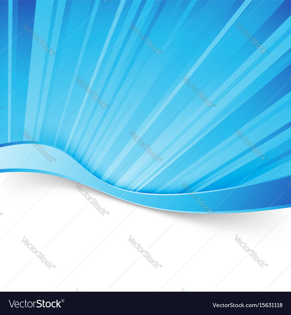 Abstract blue light wave border background