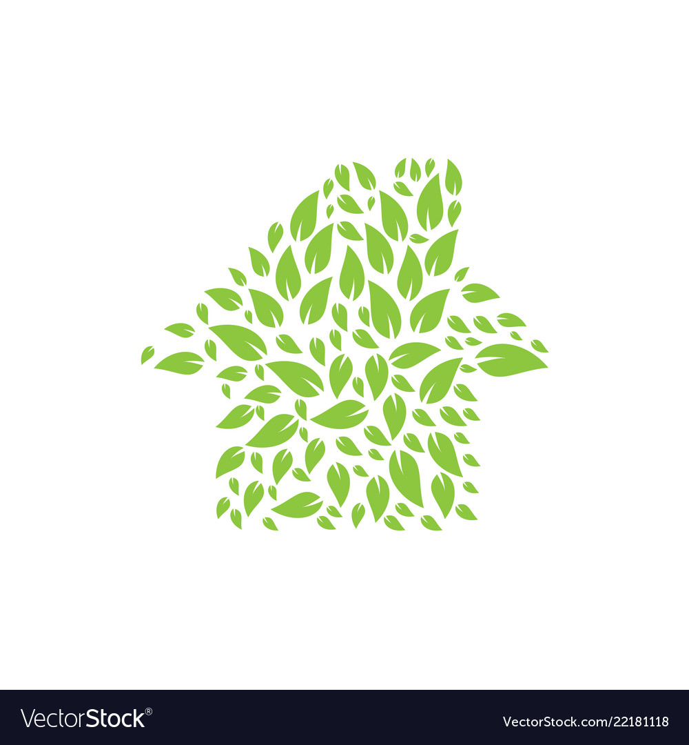 Abstract nature house logo design template