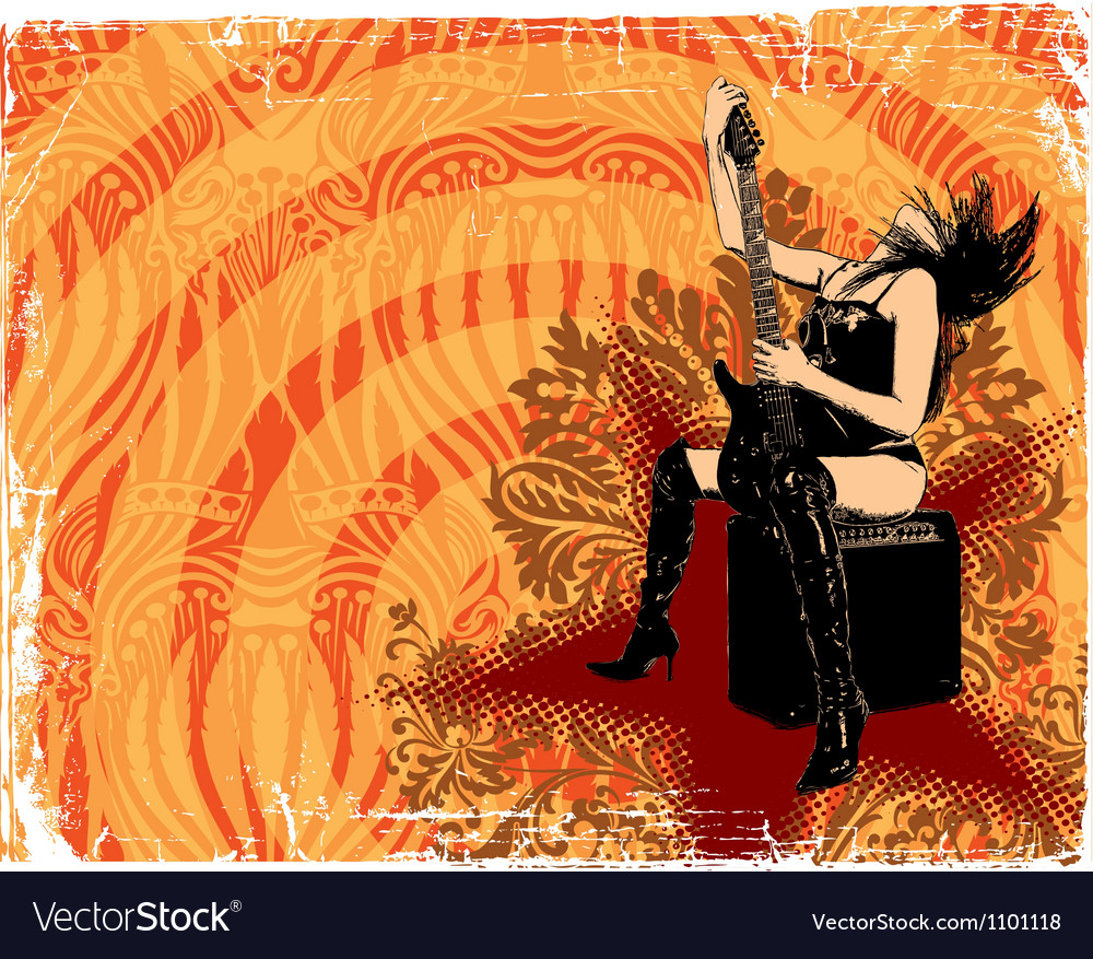 Abstract rock music background vector image