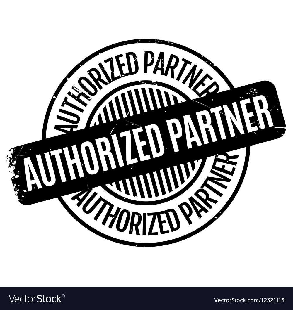 Authorized Partner rubber stamp