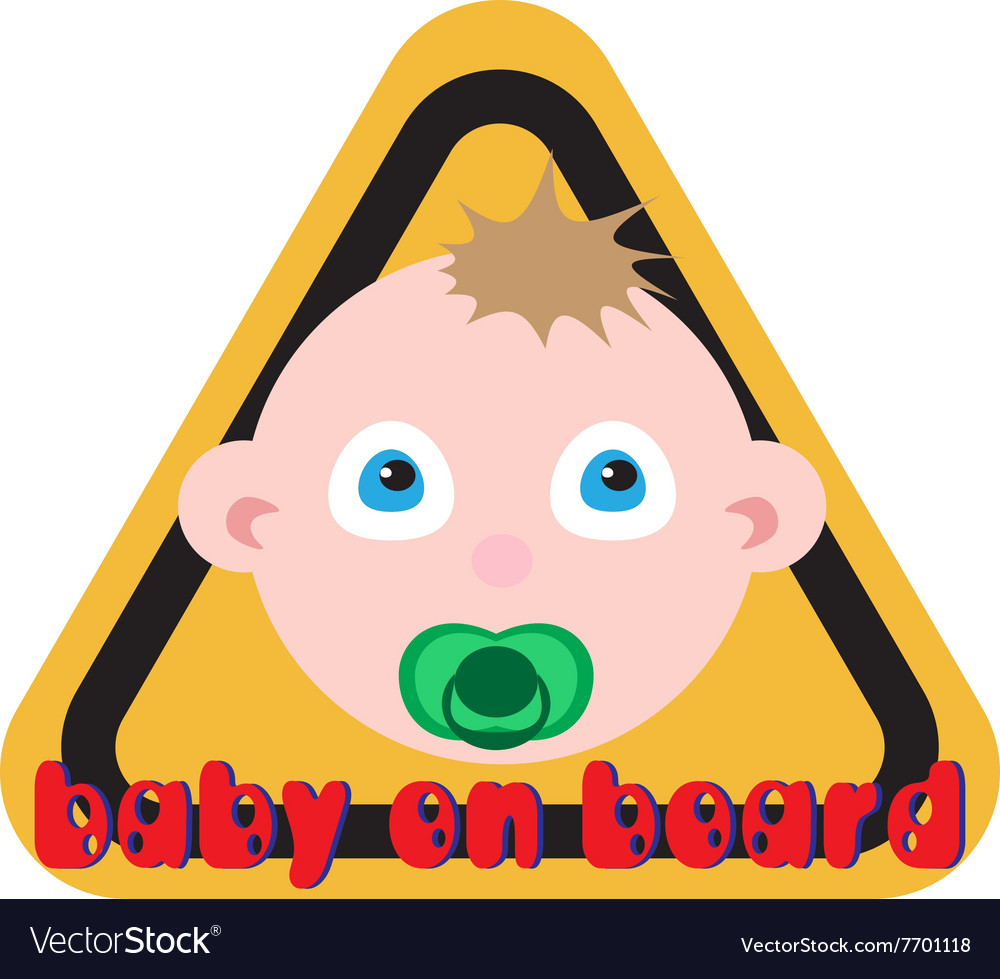 Baby on board sign yellow background