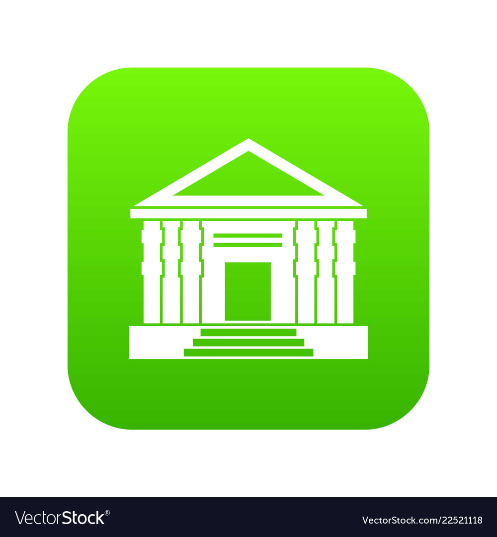 Colonnade icon digital green