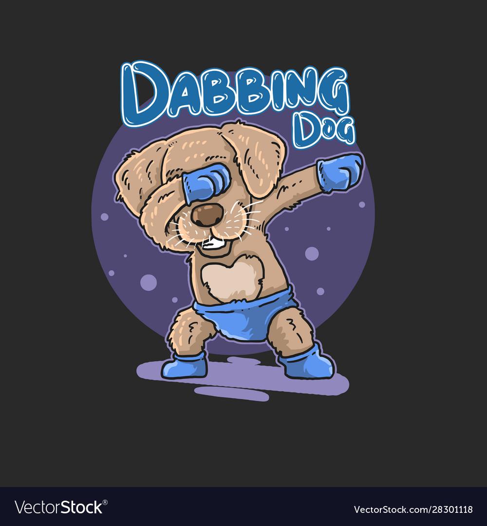 Cute dog dabbing