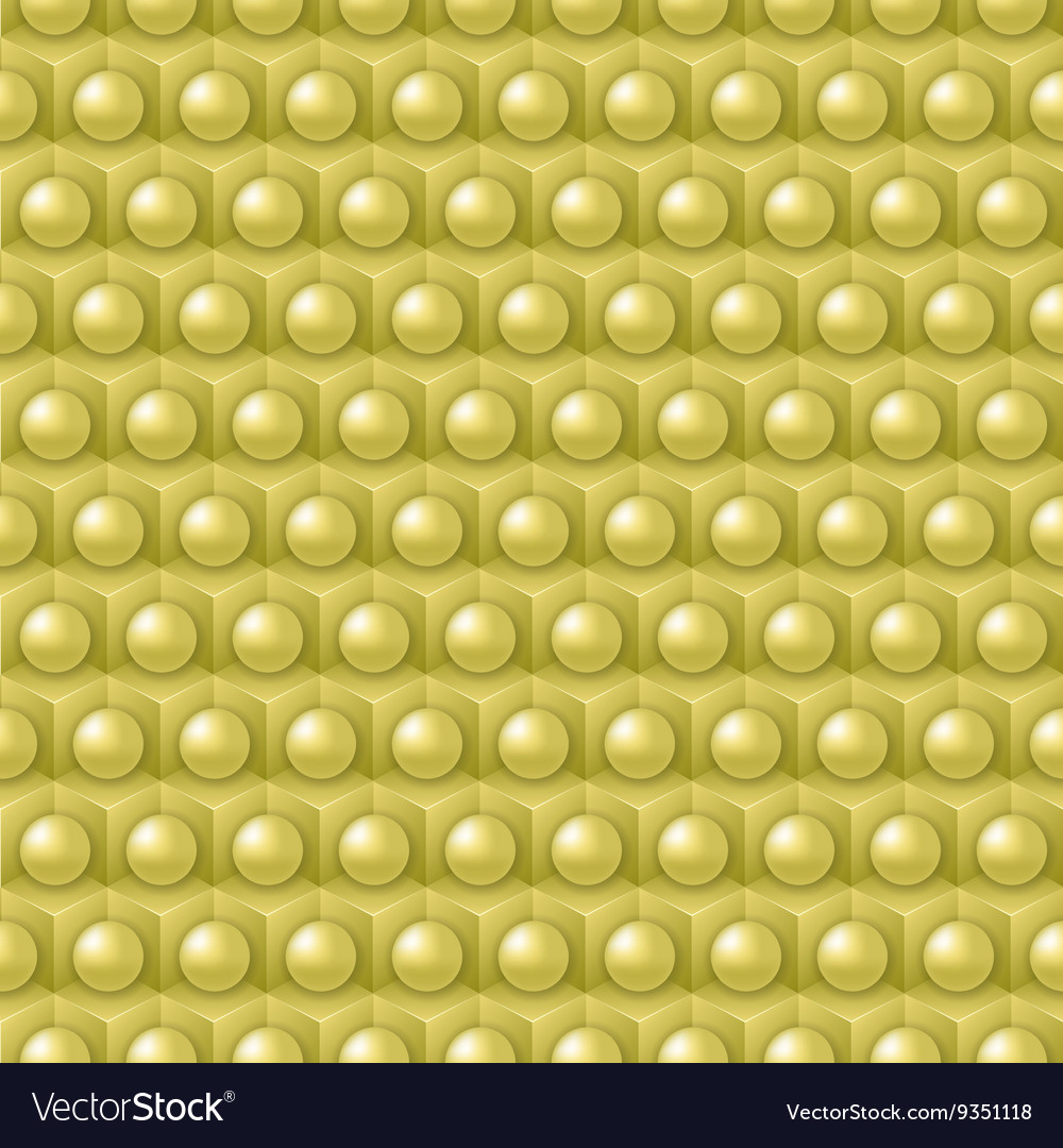 Golden cube and shere pattern