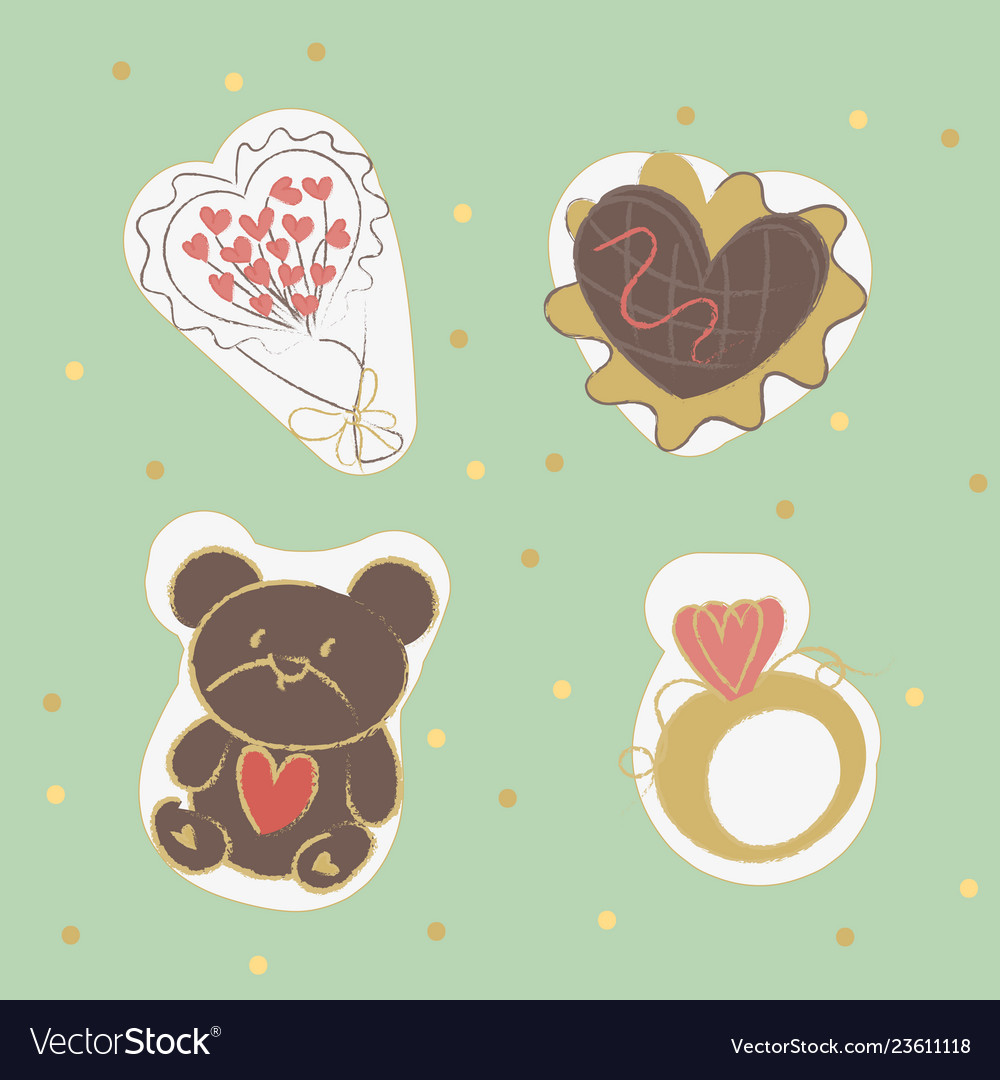 Happy valentine s day elements for your design