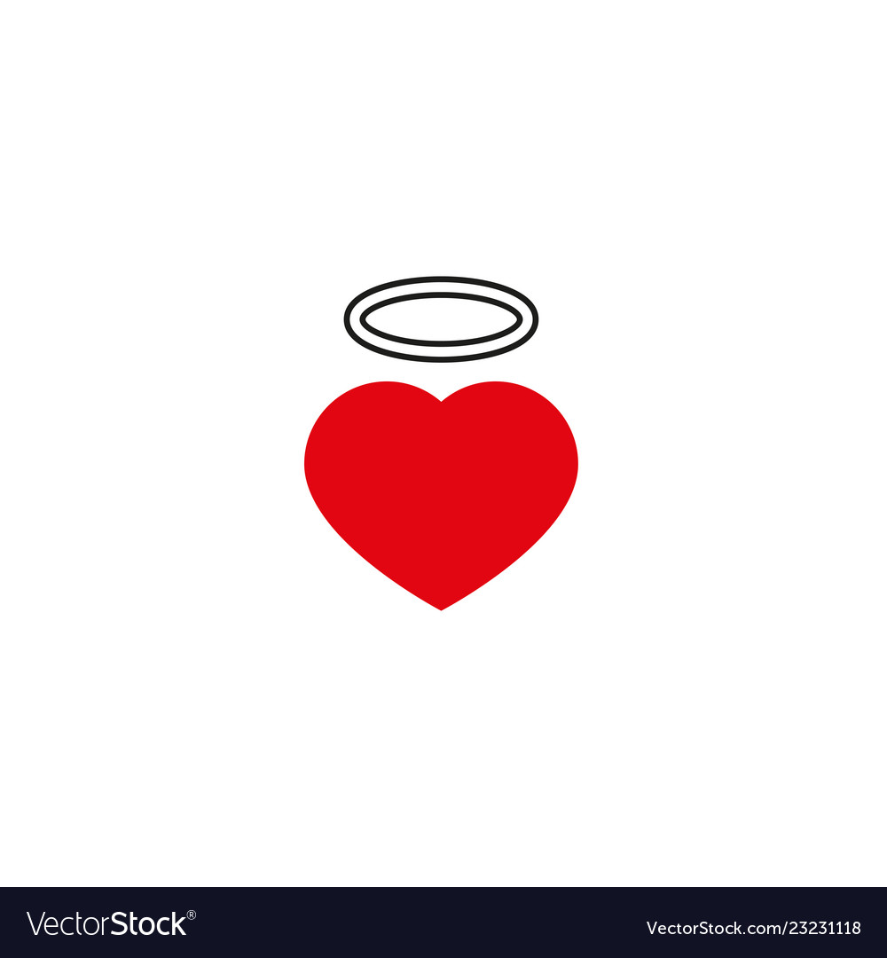 Heart with love icon