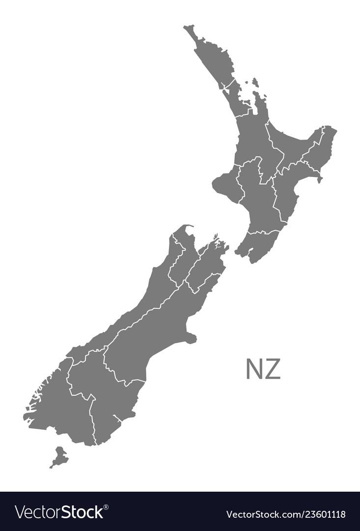 States Grey Royalty Free Vector Image