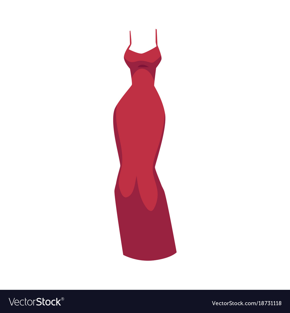 Slim Red Dress