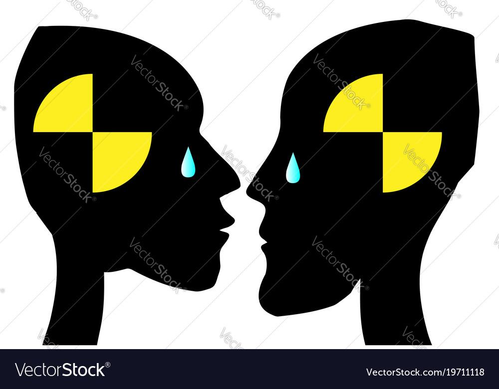 Test dummy love vector image