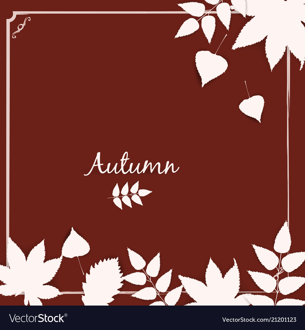 Autumn banner background with paper fall leaves