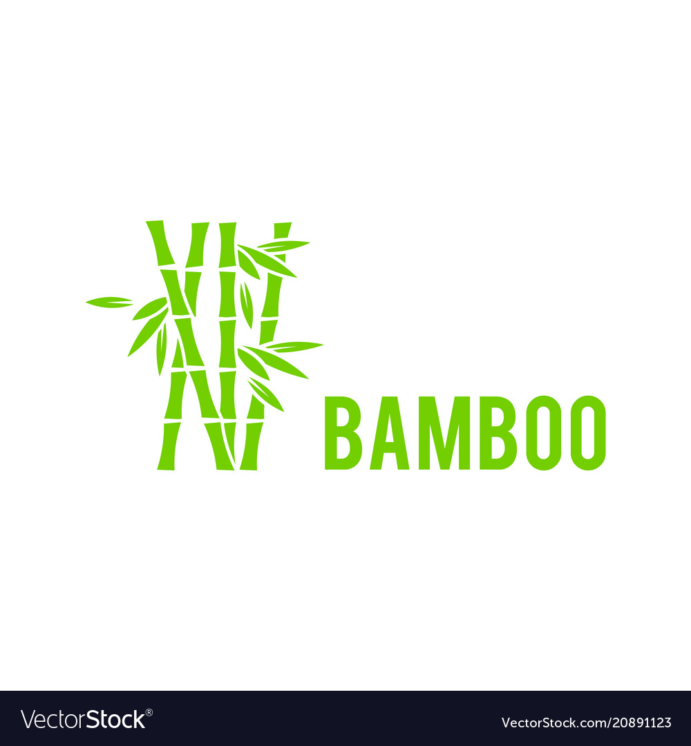 Bamboo tree icon on white background bamboo
