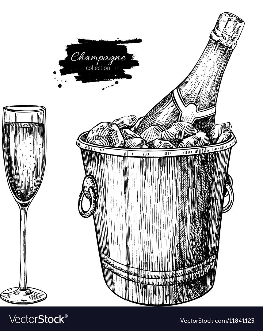 обновление картинки шампанского карандашом моментом