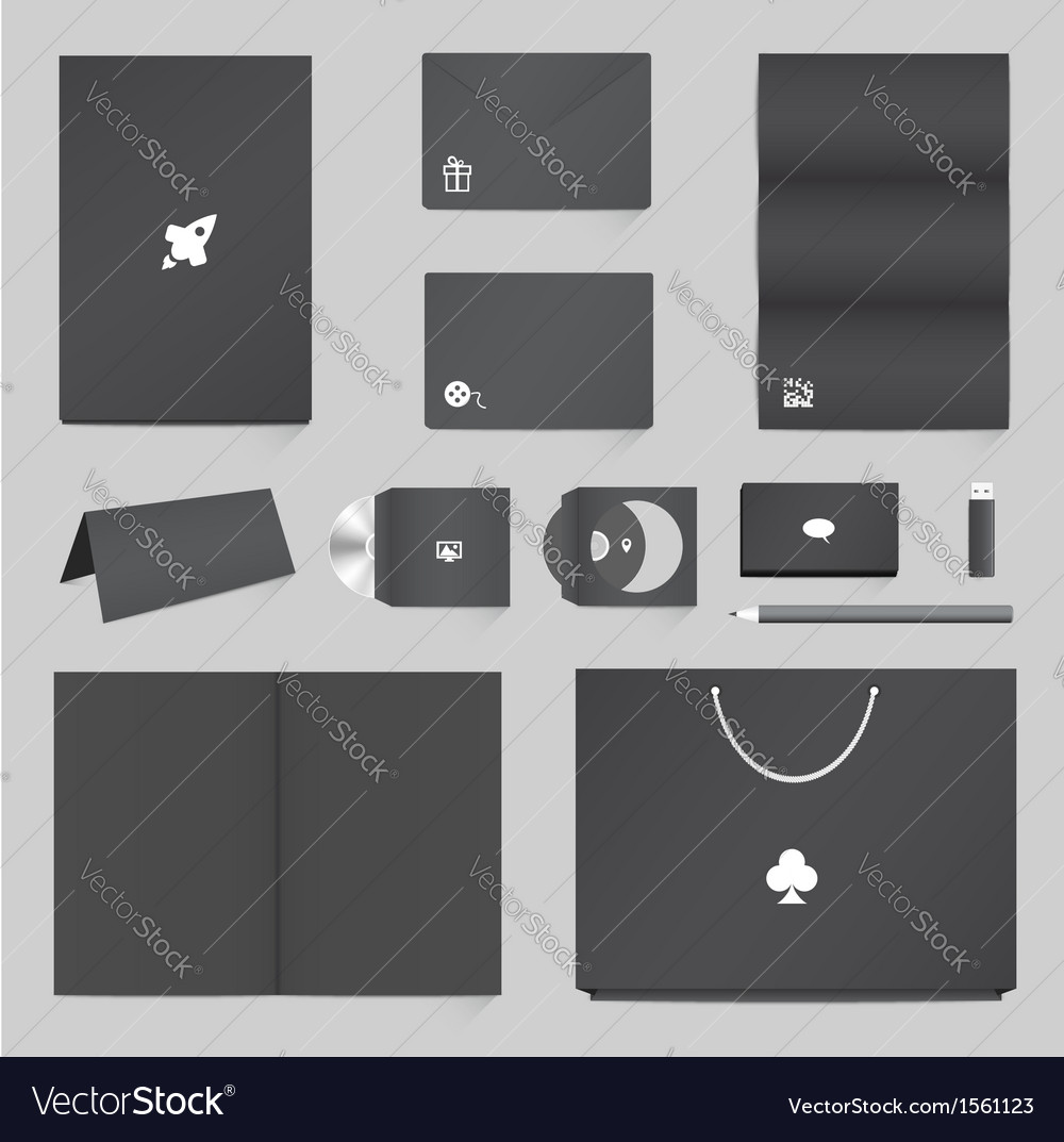 Corporate Identity Mockup Templates vector image