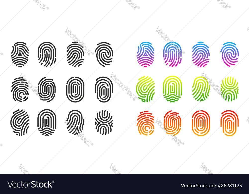 Fingerprint identification symbol
