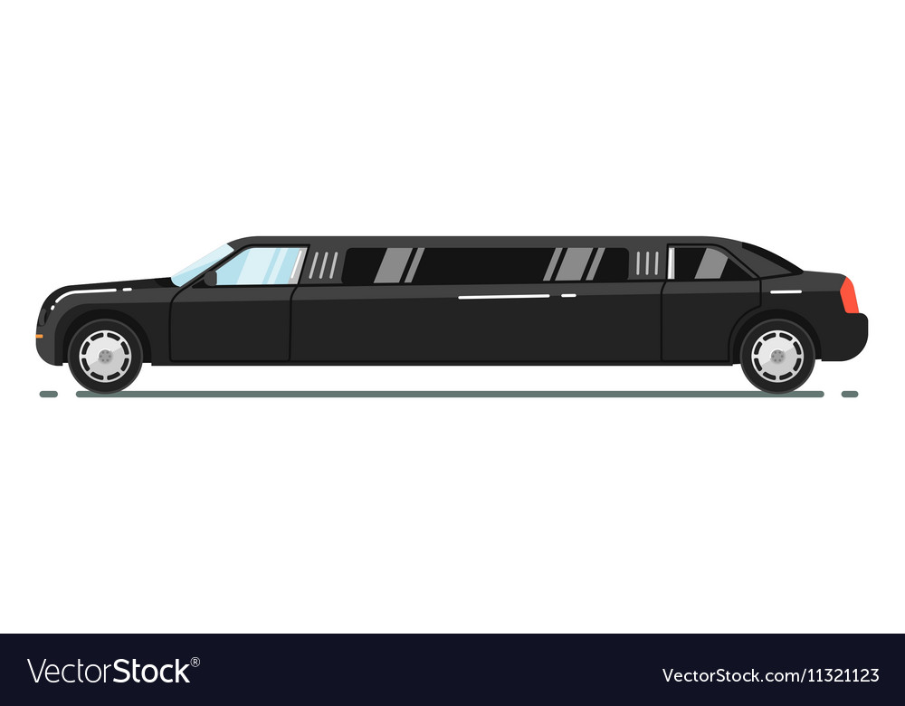 Luxurious limousine isolated on white background vector image