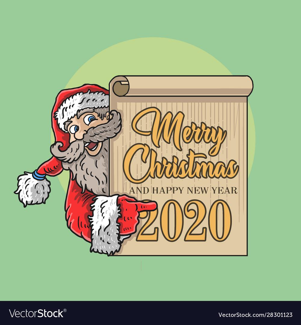 Santa claus frame border