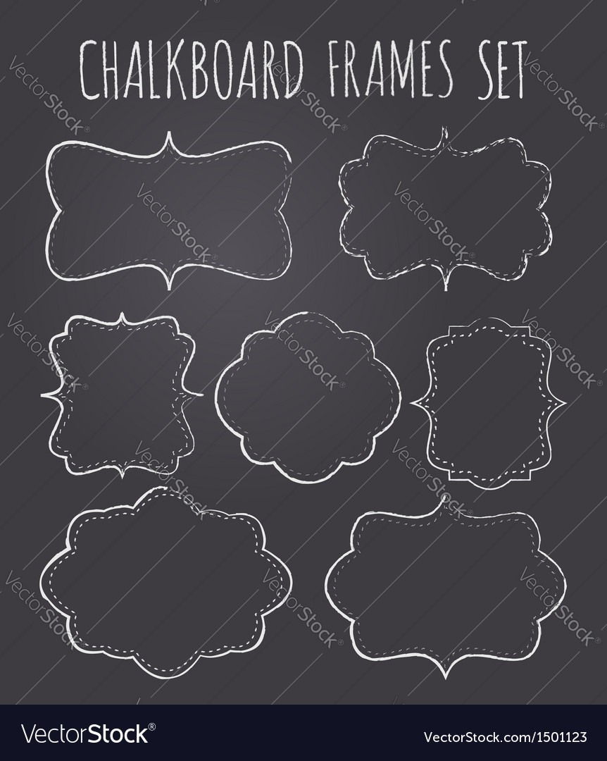 Vintage chalkboard style frames collection vector image
