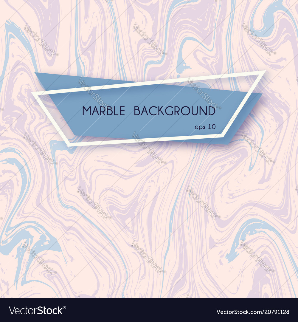 Abstract marble backgrounds in pastel pink and vector image