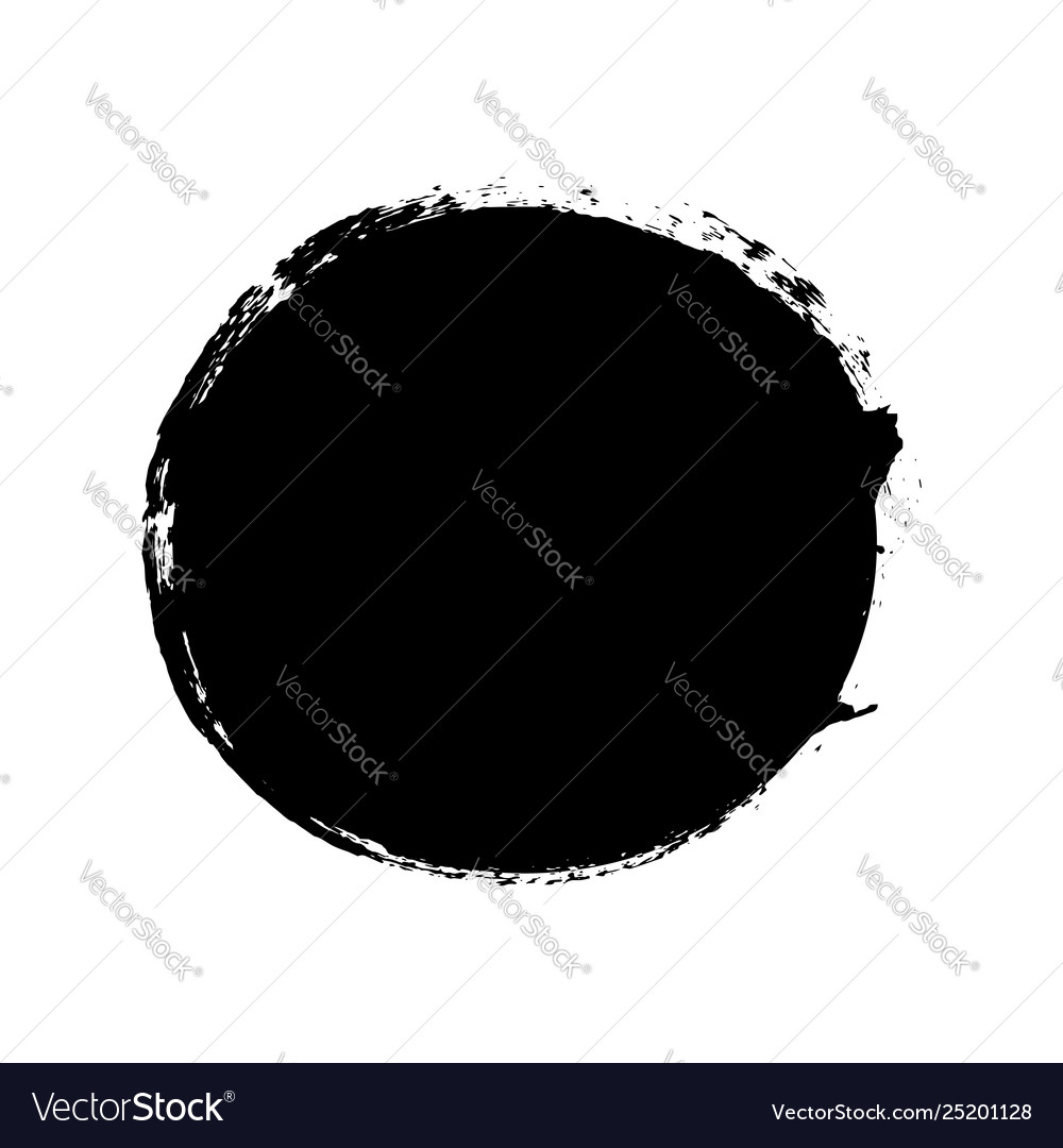 Brush stroke isolated white background circle