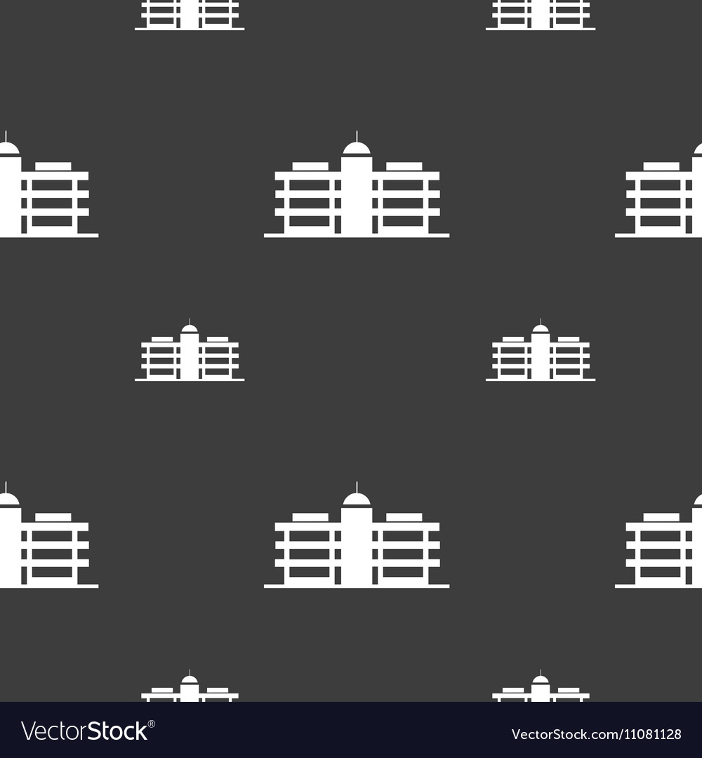 Business center icon sign Seamless pattern on a