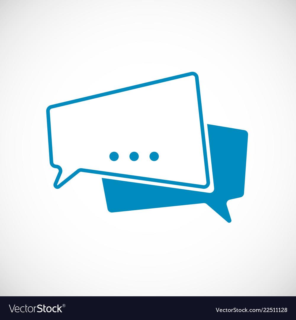 Chat message doodle message as speech bubble web