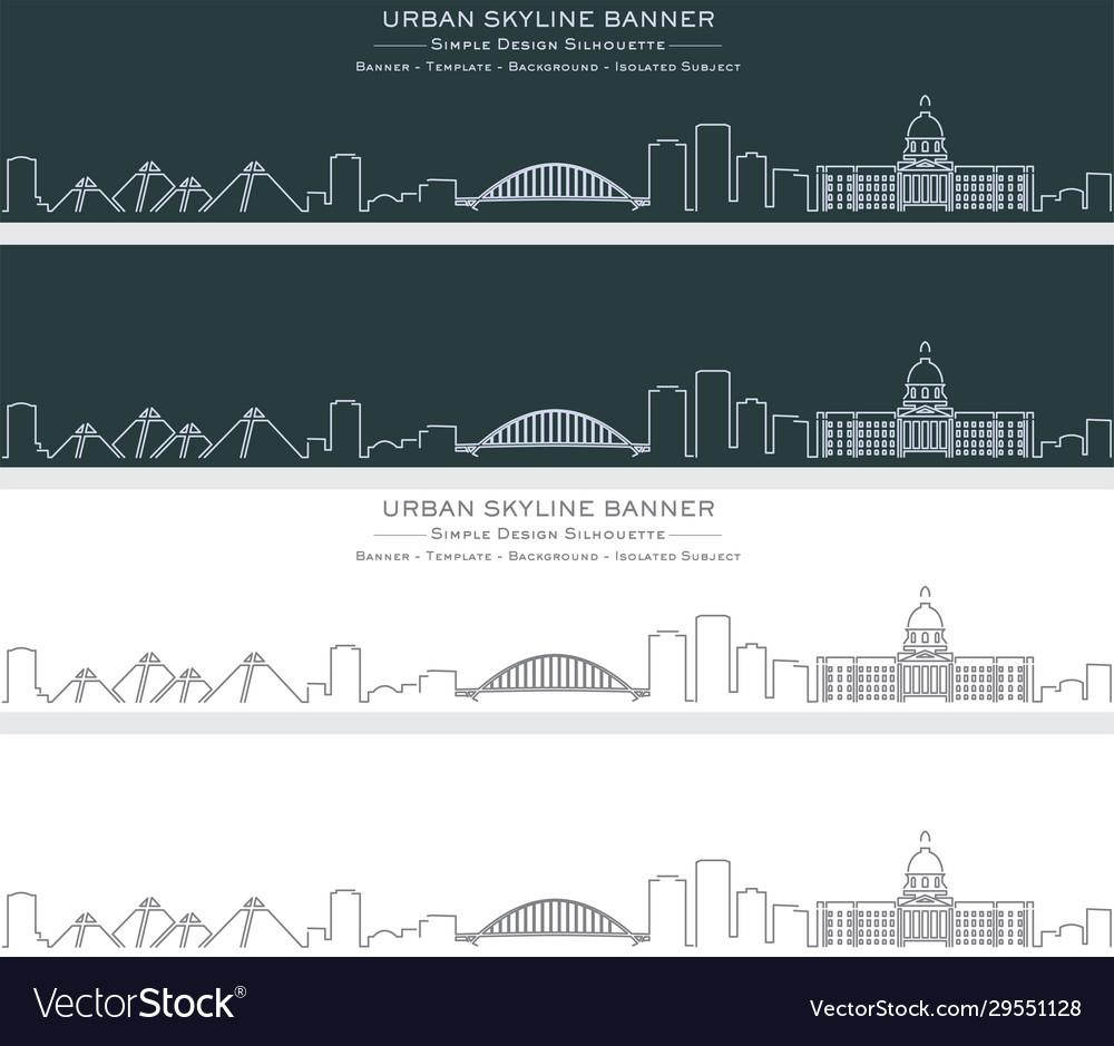 Edmonton single line skyline profile banner