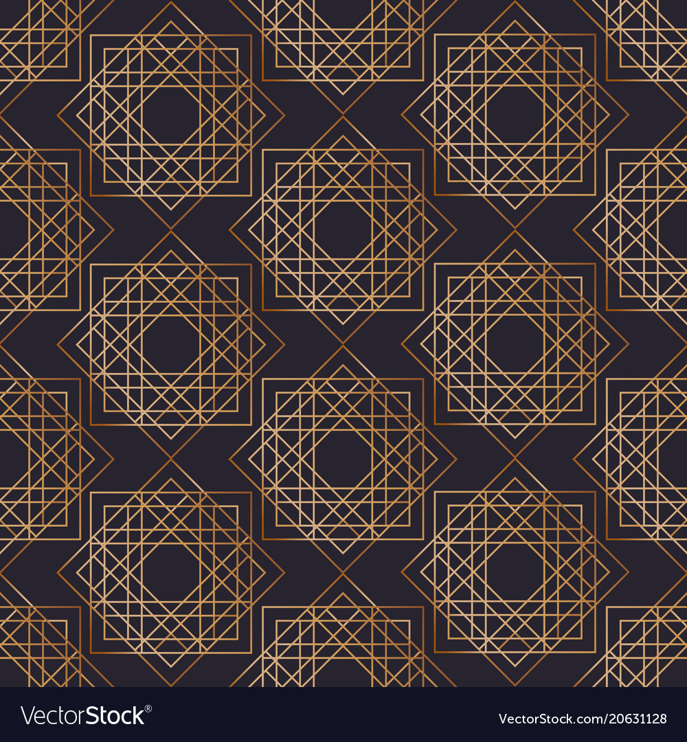 Geometric seamless pattern with squares drawn with