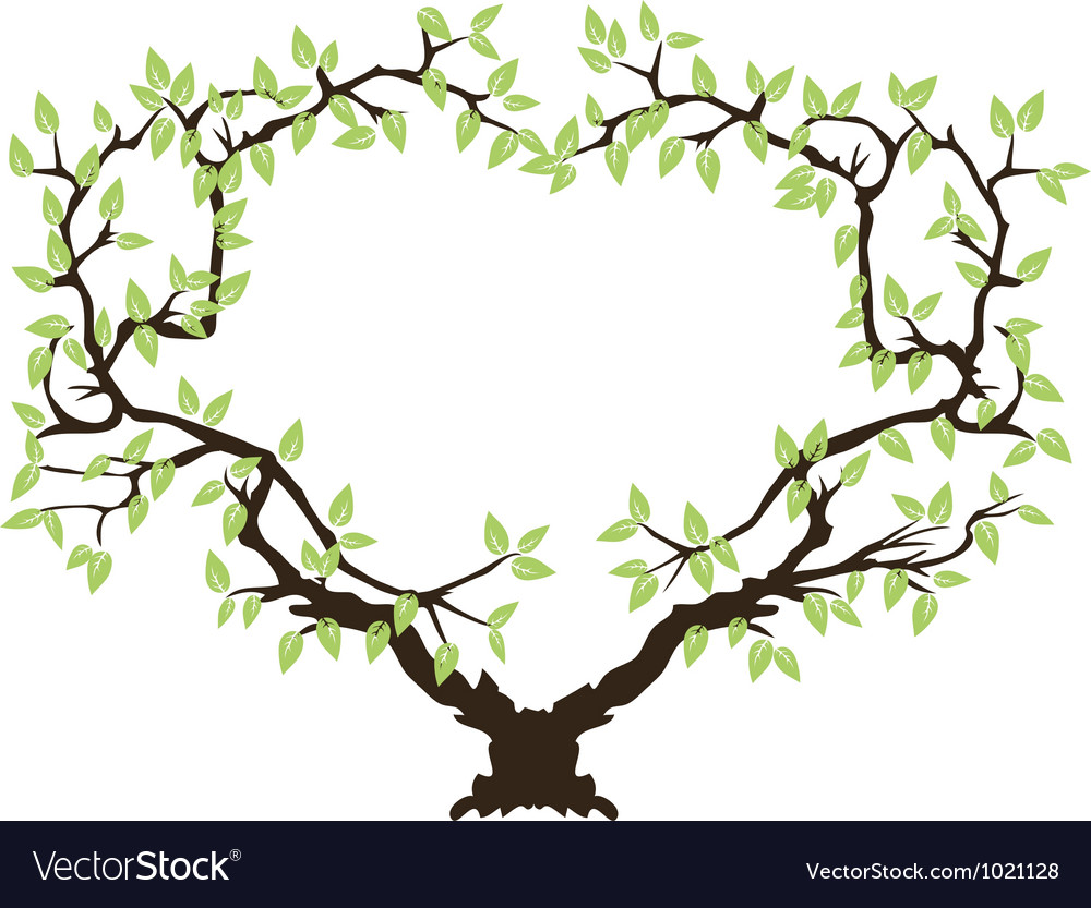 Green tree frame Royalty Free Vector Image - VectorStock