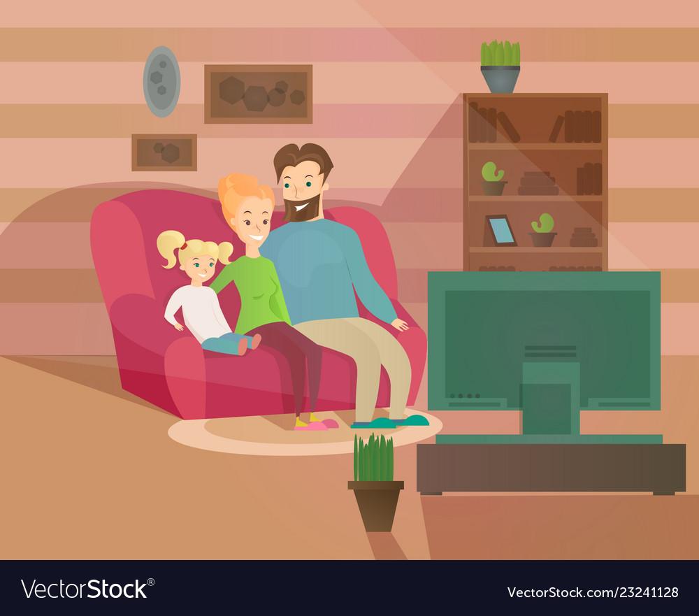 Happy family evening