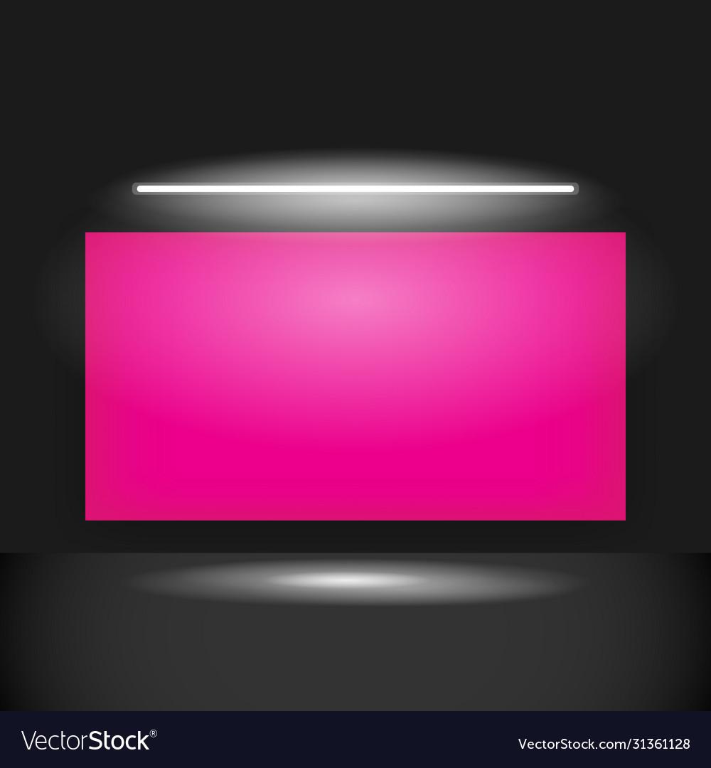 Mockup pink poster banner design template