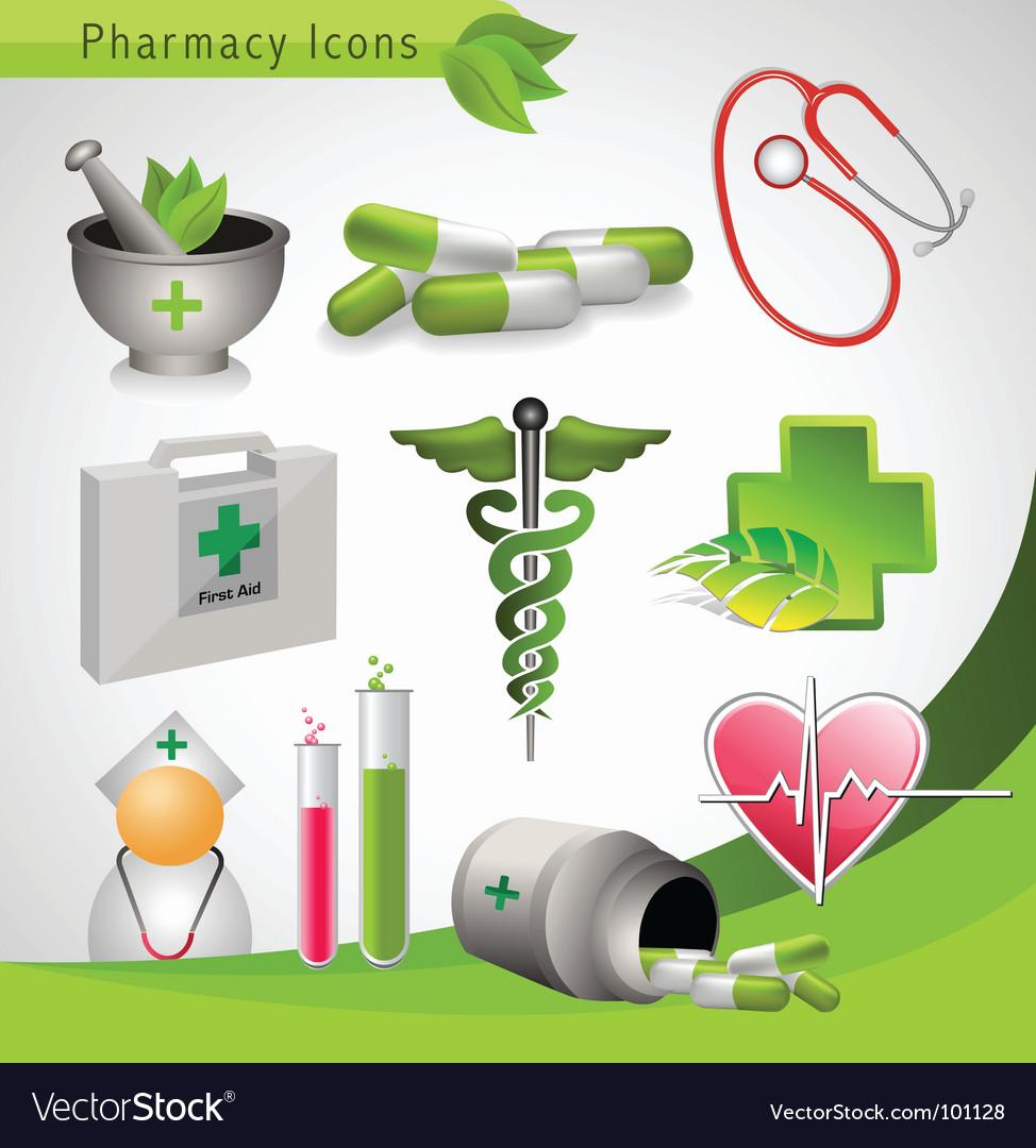 Pharmacy icons