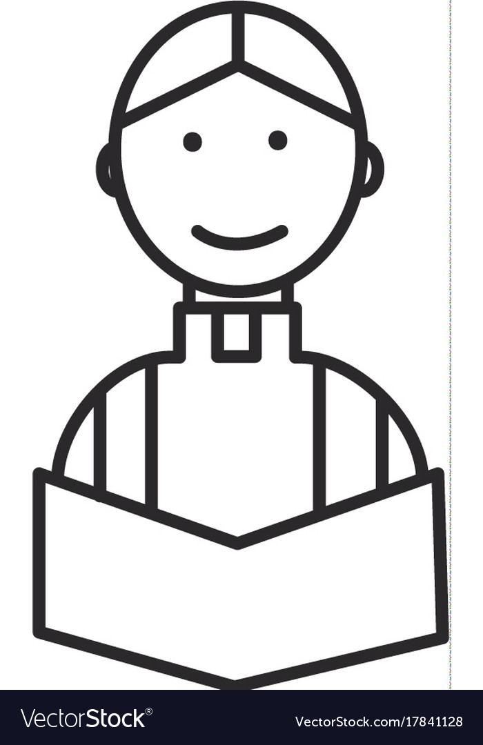 Priest at wedding in church line icon sign vector image