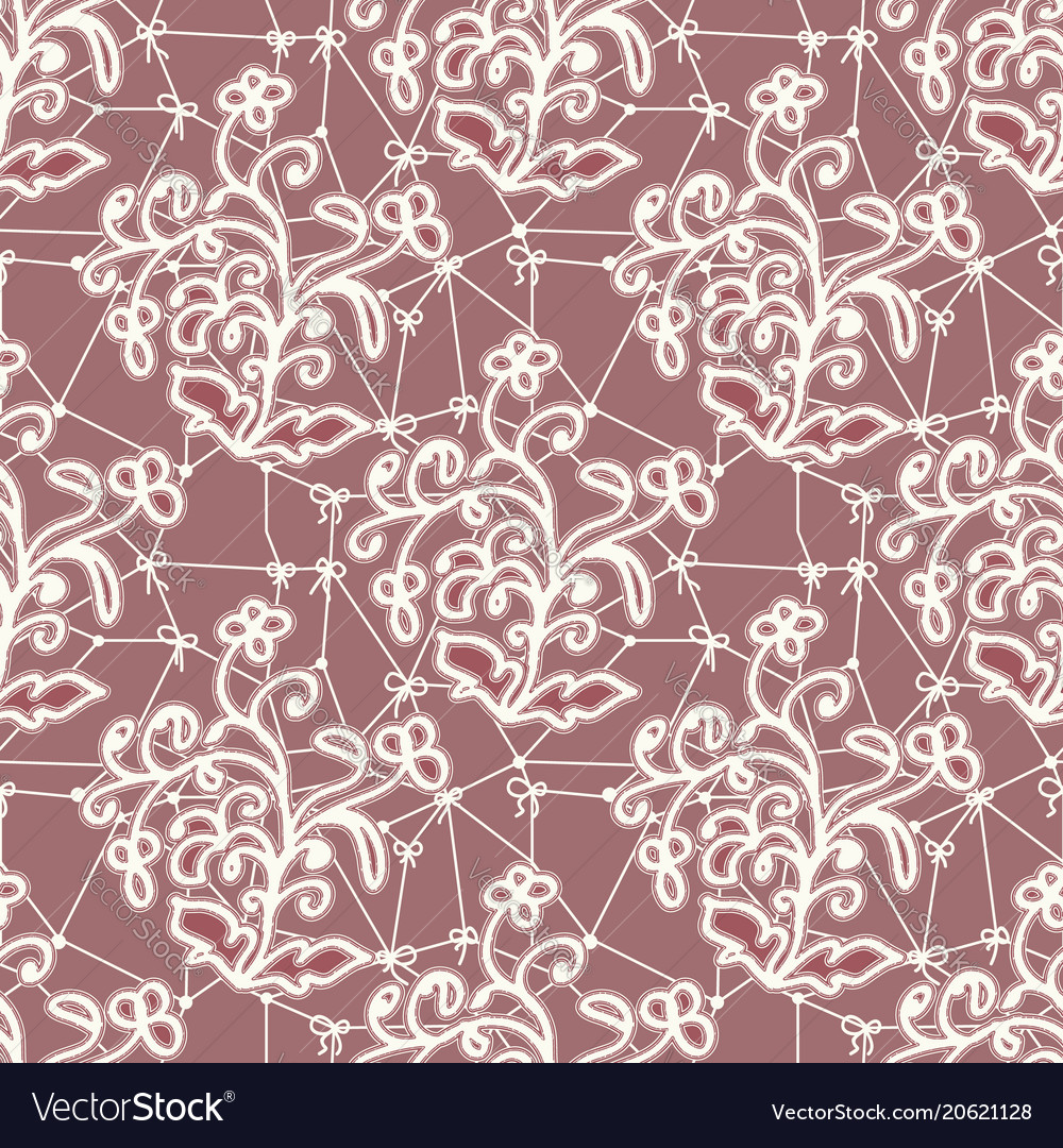 Seamless texture of white lace fabric