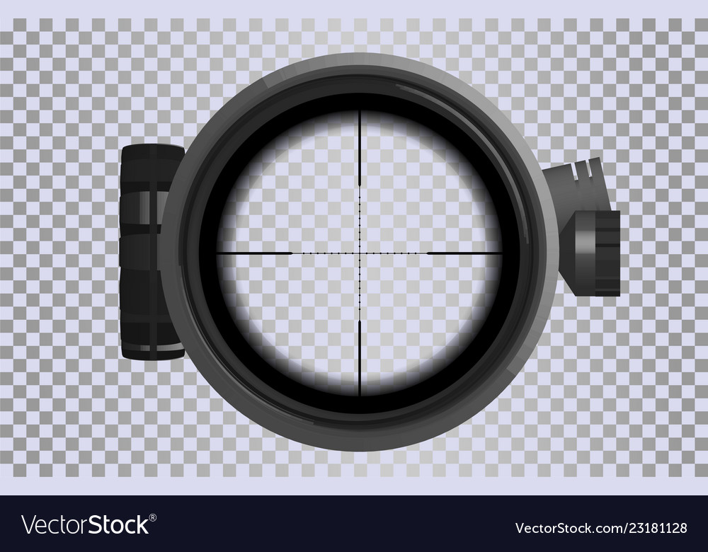 Sniper scope crosshairs in realistic style