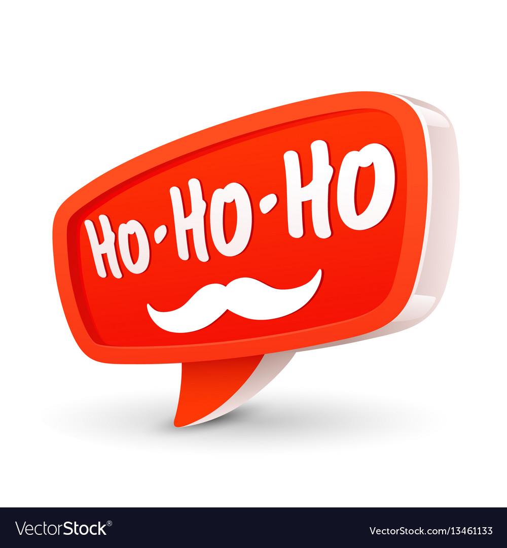 Christmas bubble for speech