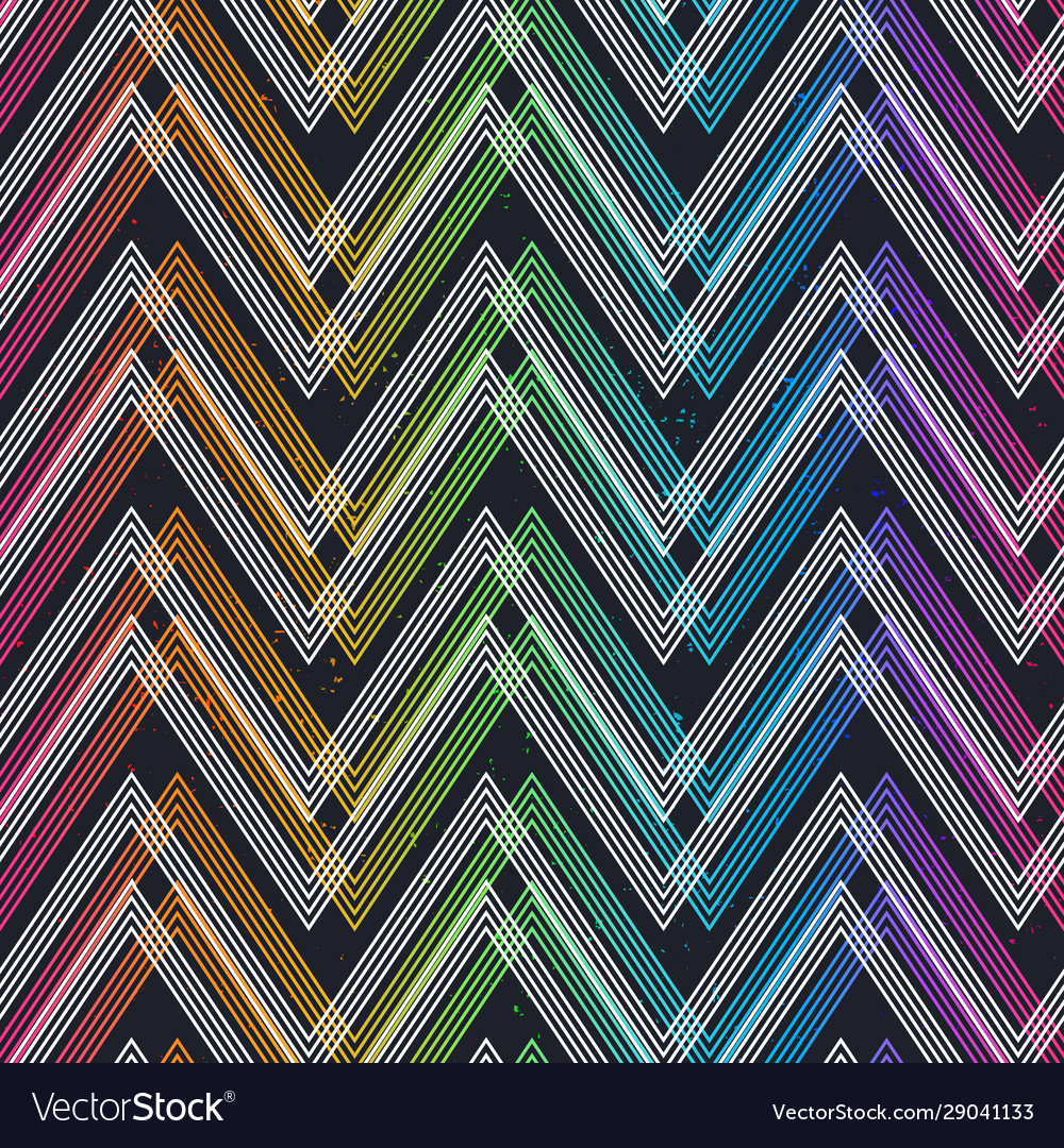 Colored zigzag seamless pattern