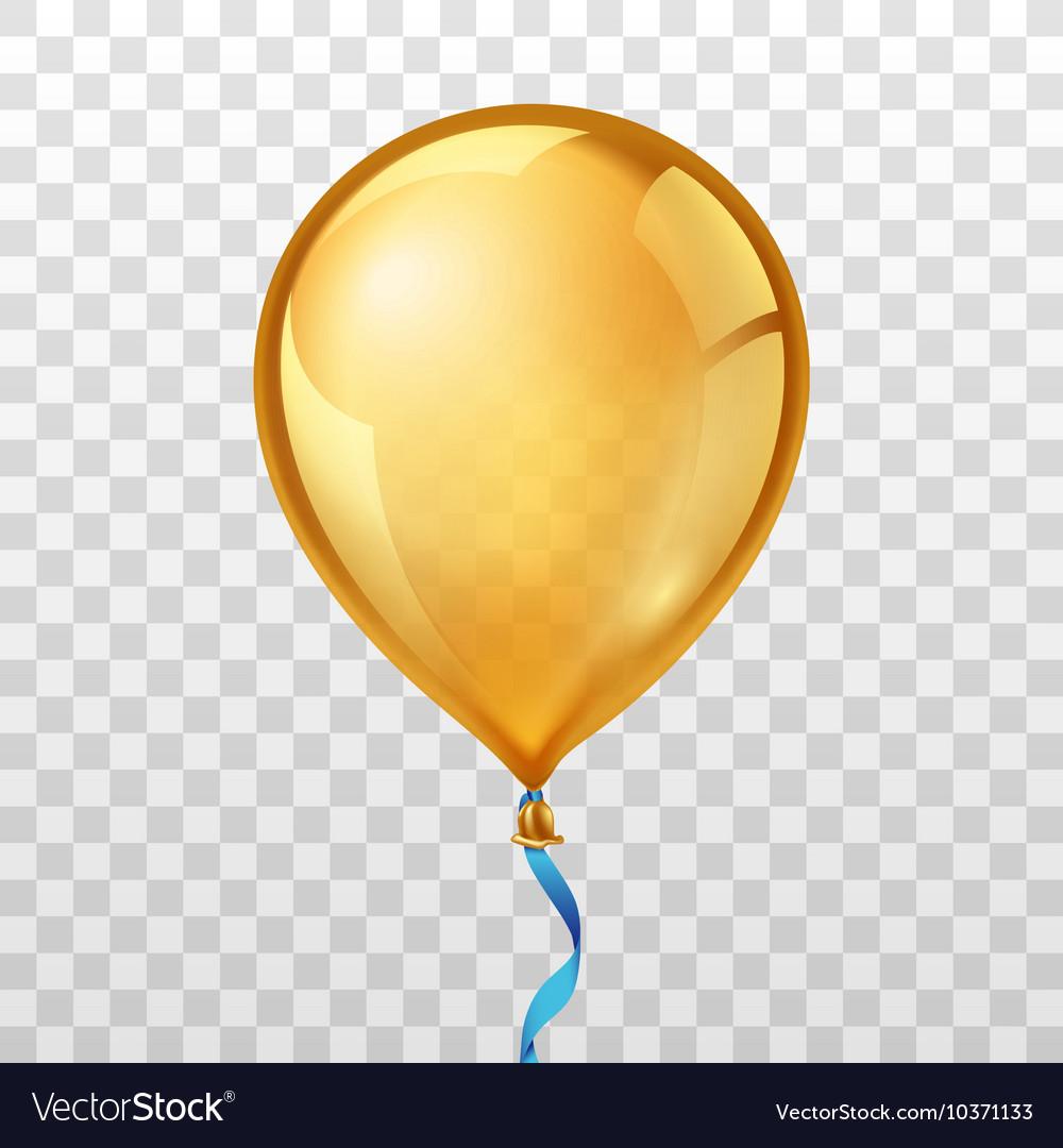 gold balloon royalty free vector image vectorstock rh vectorstock com balloon vector art balloon vector graphic