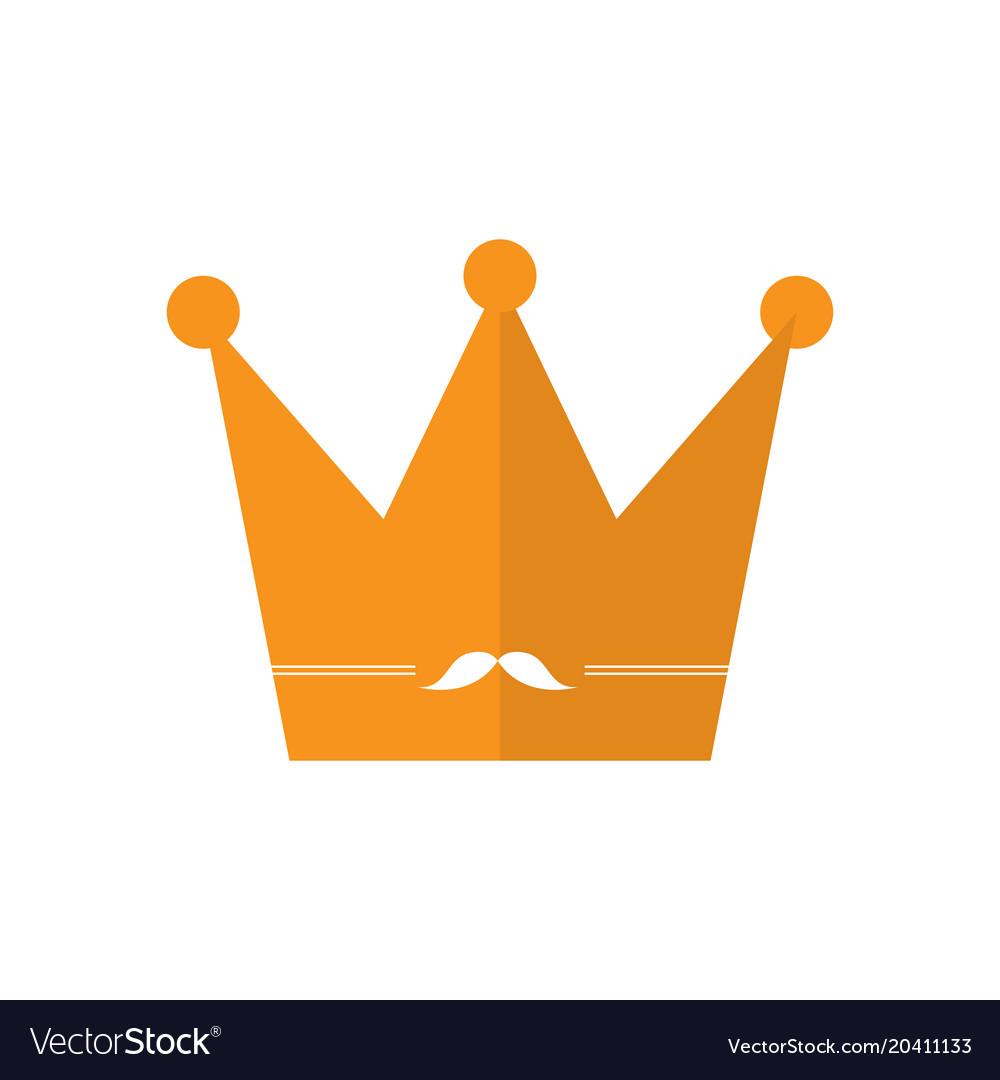 golden crown icon royalty free vector image vectorstock