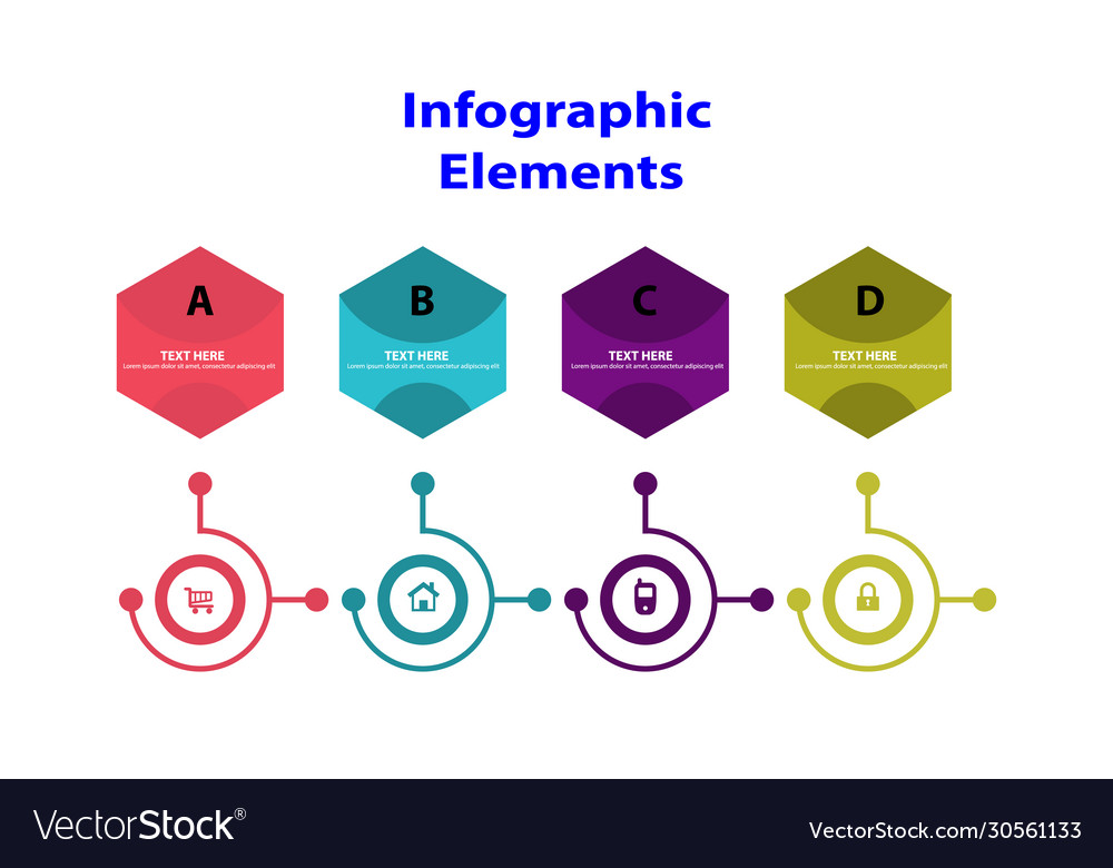 Information infographic template presentation