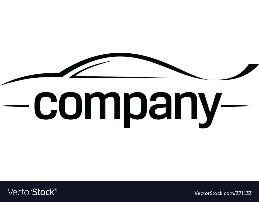 Sport Car Silhouette Logo Royalty Free Vector Image