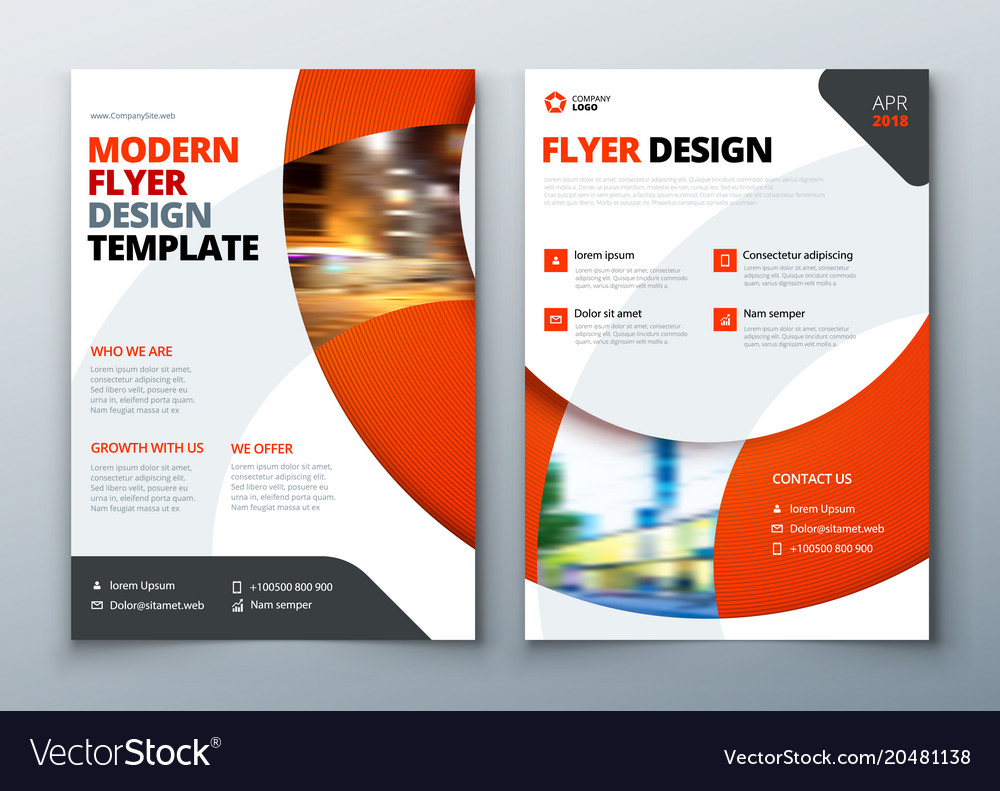 Flyer template layout design business flyer vector image wajeb Image collections