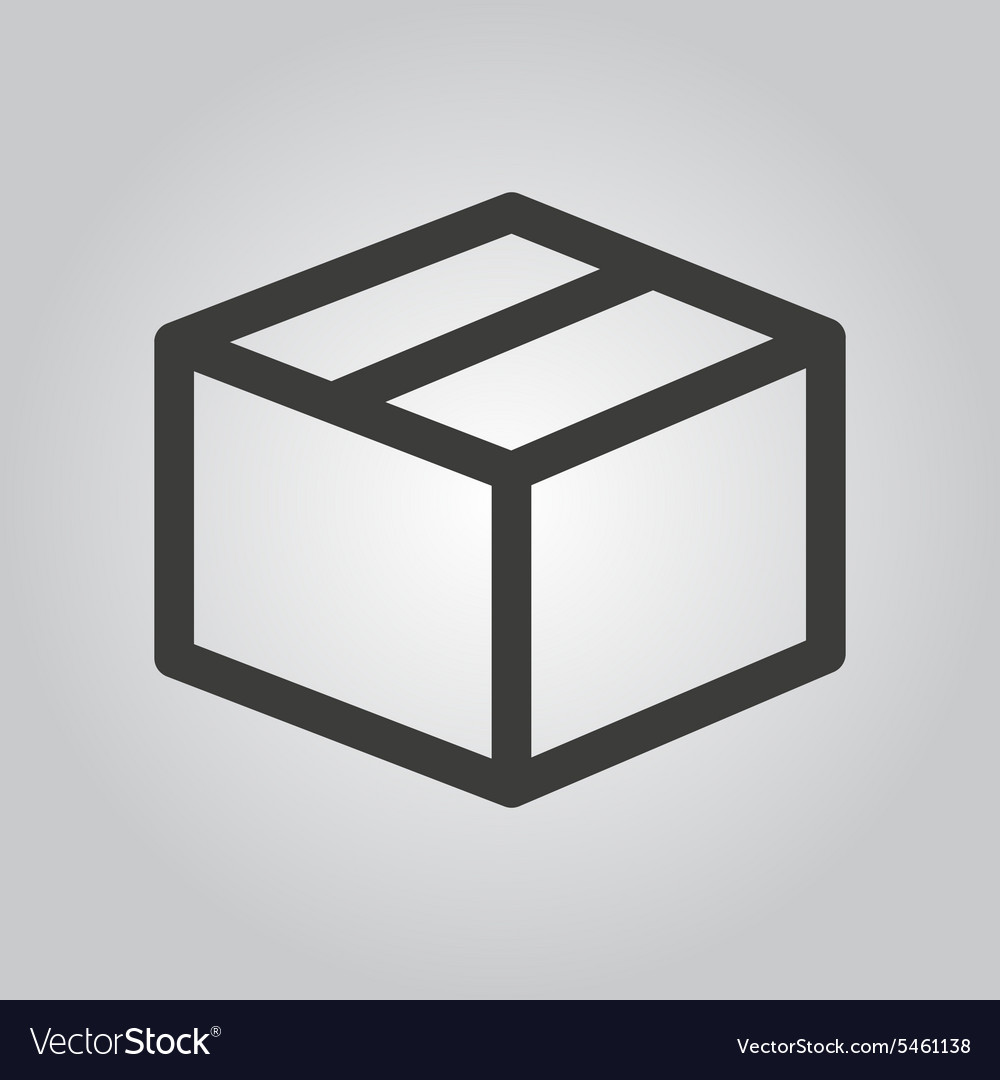 The box icon Delivery and shipping symbol Flat
