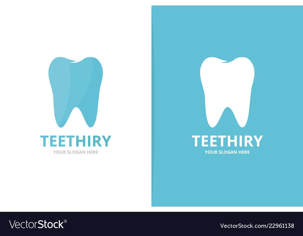 Tooth logo combination dental symbol or