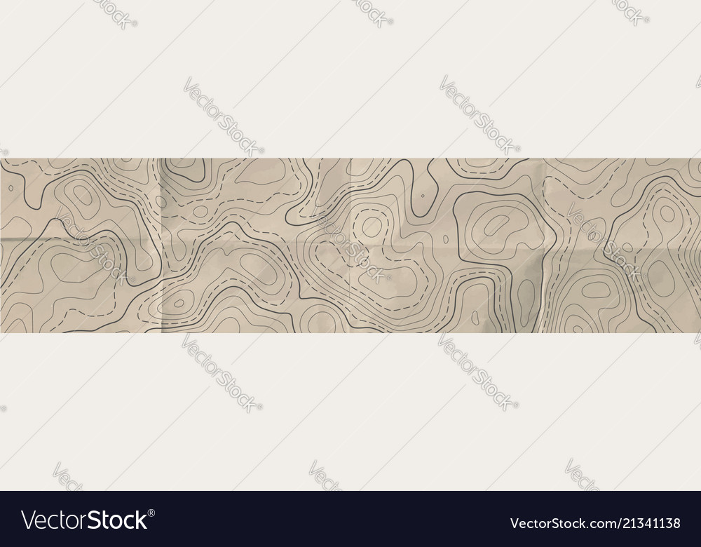 Topographic line map abstract topographic map