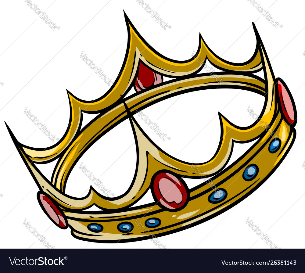 Cartoon golden royal king crown