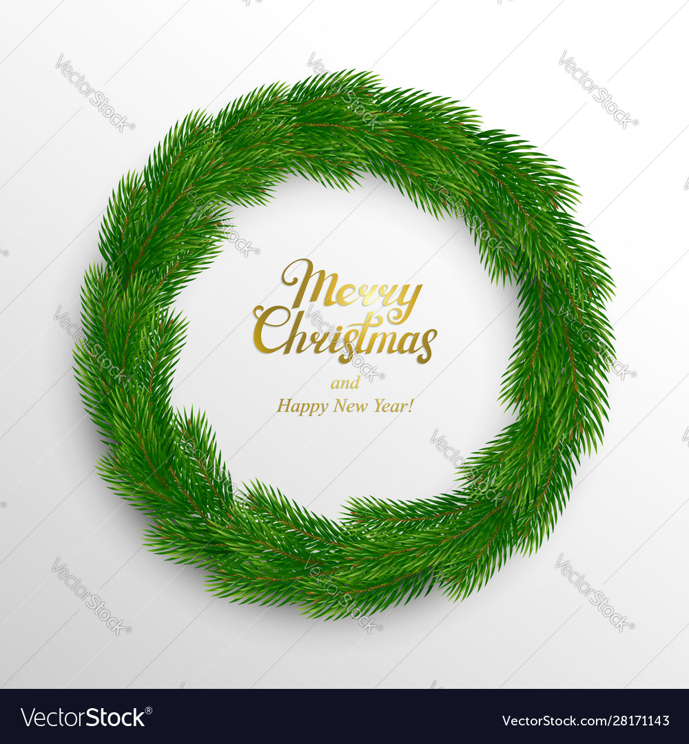 Christmas wreath fir branches