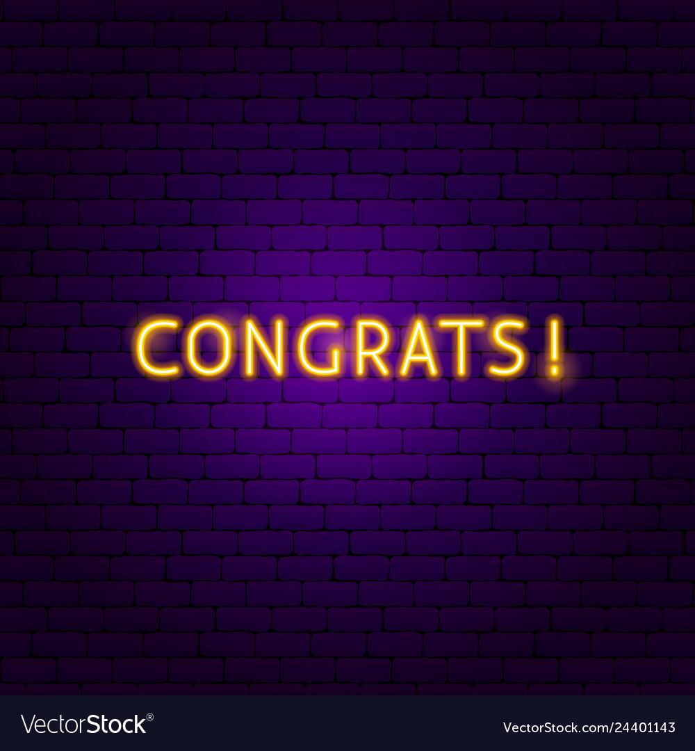 Congrats neon sign